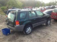 2002 Ford Escape Green No Motor Transmission Bad - Core