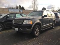2002 Ford Explorer Eddie Bauer. 4WD. Flex Fuel!