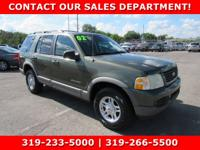 Green 2002 Ford Explorer XLT RWD 5-Speed Automatic with