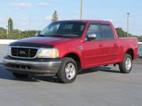 2002 FORD F150 XLT CREW CAB XLT, AUTO, ICE COLD A/C,