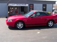 2002 Red Ford Mustang Convertible with only 88k miles!