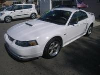CHECK OUT THIS BEAUTIFUL EGGWHITE 2002 FORD MUSTANG GT