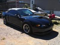 2002 Ford Mustang GT Convertible. Black, black