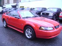Options Included: $ 6,500.00 RED CONVERTABLE MUSTANG