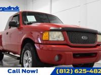 Bright Red Clearcoat 2002 Ford Ranger Edge 4WD 5-Speed
