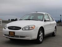 Options:  2002 Ford Taurus Ses 4Dr Sedan|White|Power