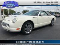 2002 Ford Thunderbird Hardtop Convertible. Leather