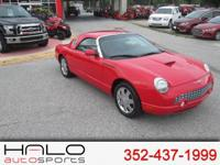 2002 FORD THUNDERBIRD IN SHOWROOM CONDITION! RED WITH