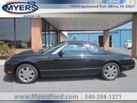 1 LOCAL OWNER. 2002 FORD THUNDERBIRD CONVERTIBLE. BLACK