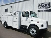 Great Running Dedicated CNG Utility Truck With 73K