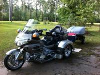 2002 Honda Goldwing GL 1800 Trike, by Motor Trike. Gold