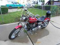02 Harley Low Rider, wide glide front end, new 21""