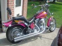 Custom softail, House of Colors custom candy paint,