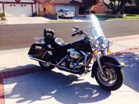 2002 HD Road King, one owner, very good condition, new