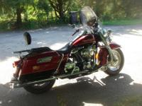 2002 Harley Road King in Maroon with Black accent with