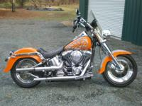 2002 Harley Fat Boy. Factory flame discomfort task with