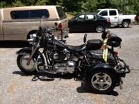 2002 Harley Heritage Softail Classic (FLSTC), shown