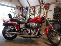 2002 harley wide glide in great condition garage kept