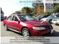 Come and check out this 2002 Honda Accord- it is in