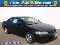BLACK ON GRAY USED 2002 HONDA ACCORD CPE EX POWER