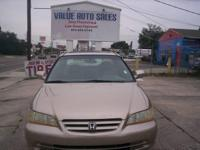 2002 Honda accord EX-L, 4 Dr. Automatic, V6,. Brown
