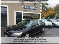 2002 Honda Accord, 98,195 miles. Cost: $5,995. Year: