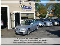2002 Honda Accord, 112,471 miles. Price: $4,995. Year: