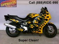 2002 Honda CBR 954RR Sport Bike - Black and Silver.