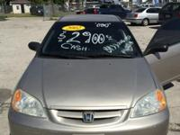 2002 Honda Civic Manuel transmission, power windows,