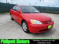 Options Included: N/A2002 Honda Civic EX, red with gray