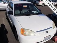 CARFAX One-Owner. Clean CARFAX. White 2002 Honda Civic