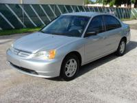 We have for sale a 2002 Honda Civic LX with just 96,492