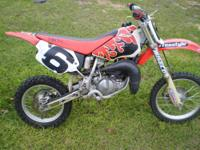 Here is a 2002 Honda CR 80 Dirt Bike is in great