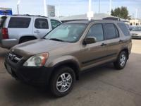 We are excited to offer this 2002 Honda CR-V. This