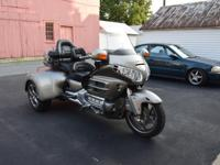 Silver grey Goldwing Trike by Trike Shop, 20,143 miles