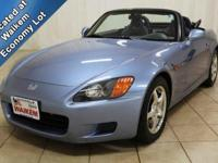 This is a 2002 Honda S2000 Convertible. It's a