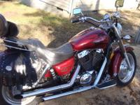 2002 Honda Shadow Sabre 1100cc. Great bike with 26000