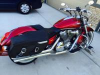 Beautiful custom Honda VTX 1800 low mileage and many
