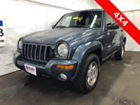 Blue 2002 Jeep Liberty Limited 4WD 4-Speed Automatic