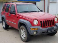 2002 Jeep Liberty Sport Red 4WD PowerTech 3.7 V6