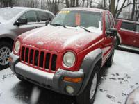 Options:  2002 Jeep Liberty Sport 4Dr 4Wd Suv|Red|If