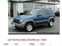 2002 Jeep Liberty Sport Blue V6 3.7L Gas 4RD FURY USED
