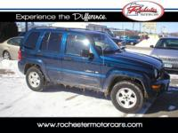 2002 Jeep Liberty with 104,757 miles. Options include: