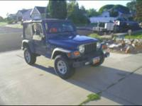 2002 Jeep Wrangler in Excellent Condition Navy Blue