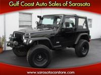 Options Included: N/A2002 JEEP WRANGLER 4X4 6 CYL! LOTS