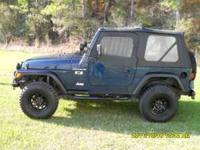 "2002 JEEP WRANGLER X APEX 6CYL 5 SPEED 3"" LIFT A/C"