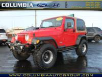 This Flame Red Clearcoat 2002 Jeep Wrangler X might be
