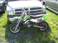 2002 Kawasaki 75CC Dirt Bike, new tires, new head ,
