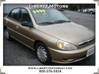 Options:  2002 Kia Rio Clean Auto Check. Great Price!!