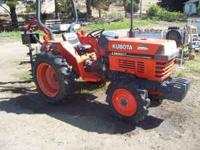 """2002"" Kubota model L-2600 29hp 4x4, 8spd gear drive,"